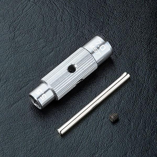 Steckschlüssel Alu silber 5.5/7.0mm