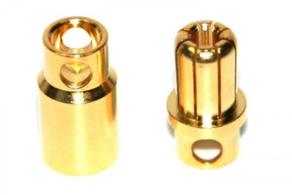 Rockamp Goldkontakt Stecker 8mm