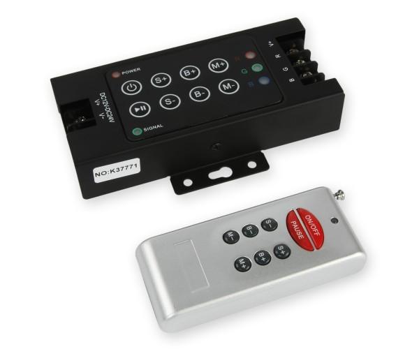 LED RGB Controller 3x10A mit Funkfernbedienung 8 Tasten