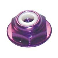 8-32 Mutter mit Flansch Purple (4)