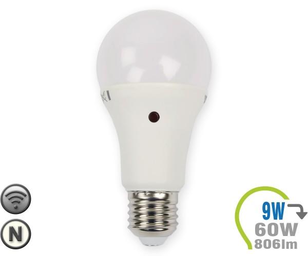 E27 LED Lampe 9W A60 Dämmerungssensor Neutralweiß