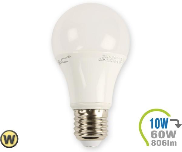 E27 LED Lampe 10W A60  Warmweiß
