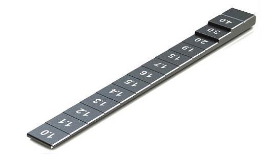Bodenabstandslehre 1-4mm Schwarz
