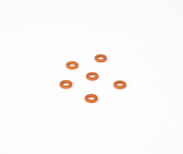 1x6mm Distanzstück - Orange (6Stk.)