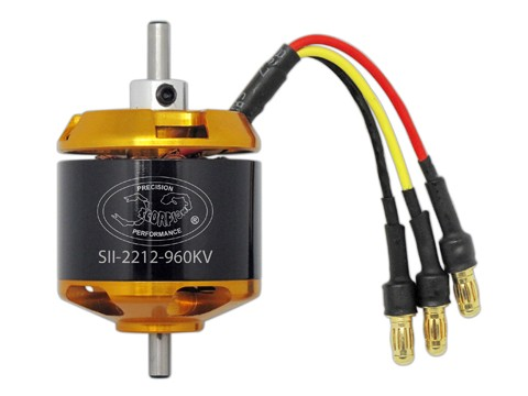 SII-2212-960KV Scorpion Motor (3mm Welle)