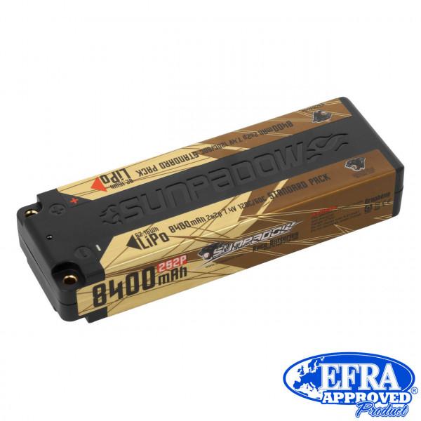 LiPo Akku 8400mAh 120C/60C 2s Competition 4mm Buchse