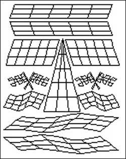 Airbrush Maske Checkered
