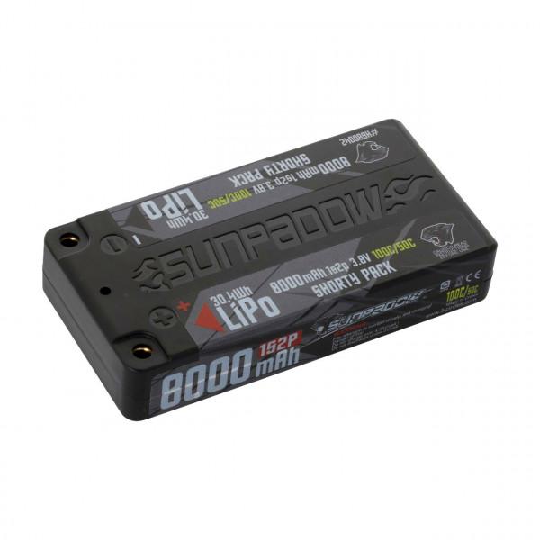 LiPo Akku  HV 8000mAh 100C/50C 1s Shorty Ultra LCG 4mm Buchs