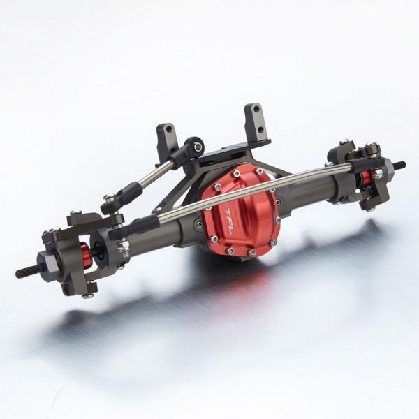 Antriebseinheit Vorne komplett V2 Titan/Rot für Axial SCX 10