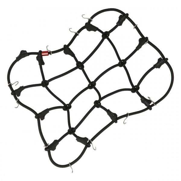 Gepäcknetz mit Haken Schwarz (120mm x 80mm)