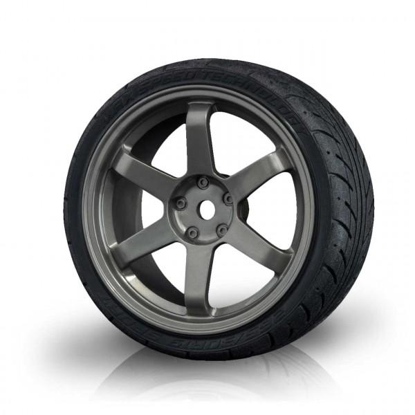 Felge TE grau mit AD Onroad Reifen (4 Stück)