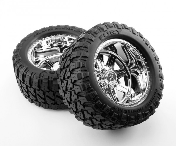 Reifen auf American Force Felge (fertig verklebt, 1 Paar)