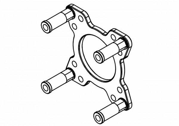 Halterung Aluminium v2 für Kupplungsgehäuse G230-320