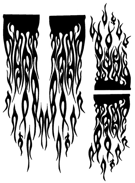 Airbrush Maske Ghost Flames