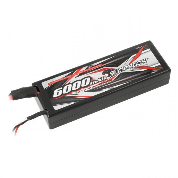 LiPo Akku 6000mAh 60C/30C 2s Hardcase T-Stecker