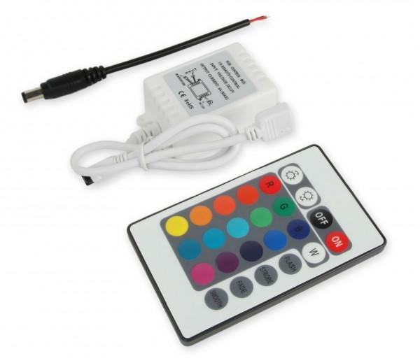 LED RGB Controller 3x2A mit Infrarot Fernbedienung 16 Tasten