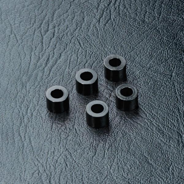 Distanzbuchse Alu 3x5.5x4.0mm schwarz