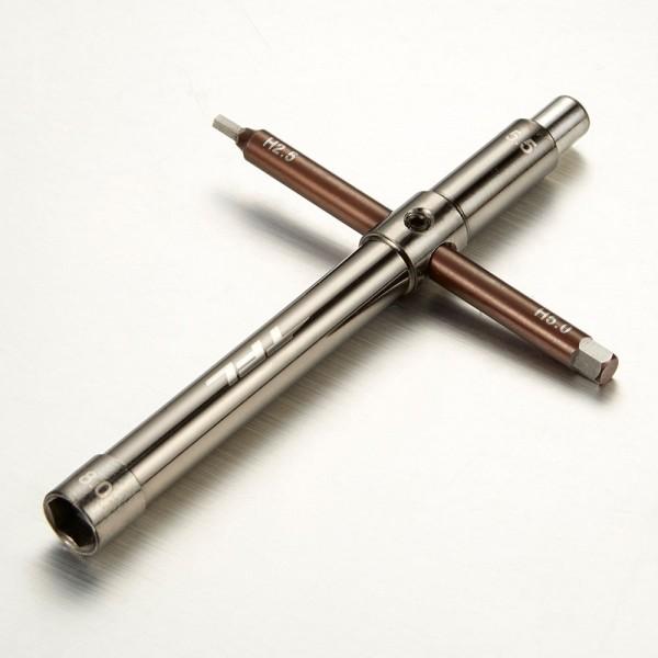 Kreuzschlüssel Sechskant Innen 2,5/5,0mm Aussen 5,5/8,0mm