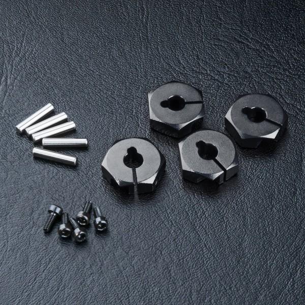 Radmitnehmer Alu 4mm schwarz (4 Stück)