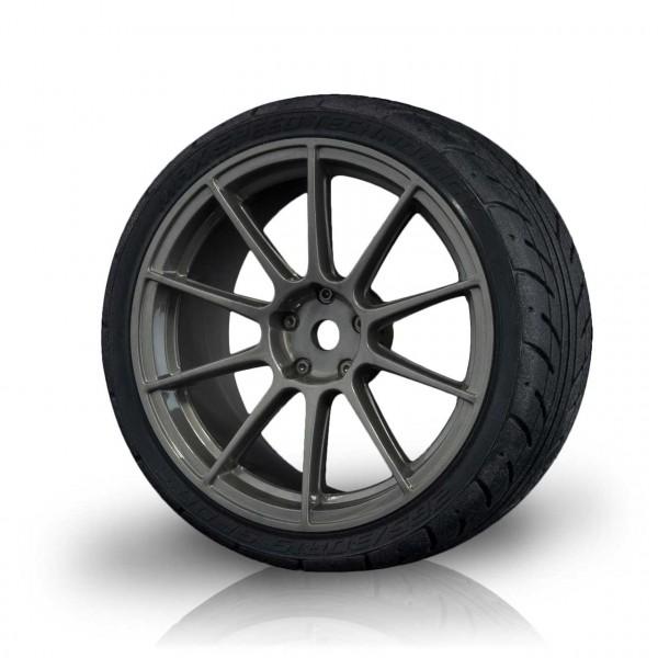 Felge 5H grau mit AD Onroad Reifen (4 Stück)