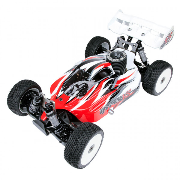 Hyper VS Nitro Buggy 30 1/8 mit roter Karosserie