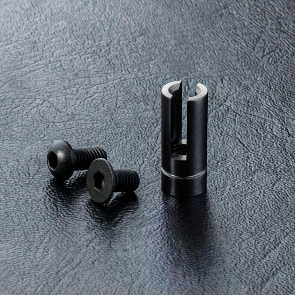 Antennenrohrhalterung Alu schwarz