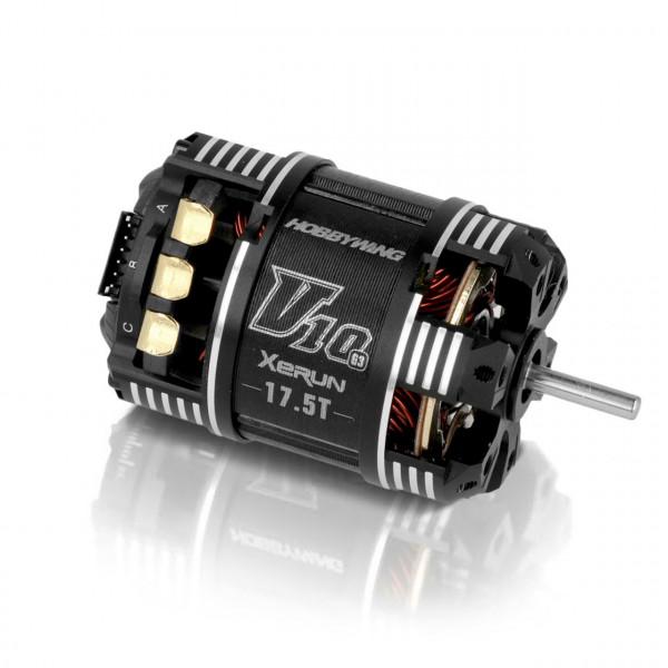 Xerun V10 Brushless Motor G3 2830kV (2-3s) 17.5T Sensored fü