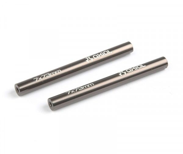 Threaded Aluminum Pipe 7x73mm - Grey (2pcs)