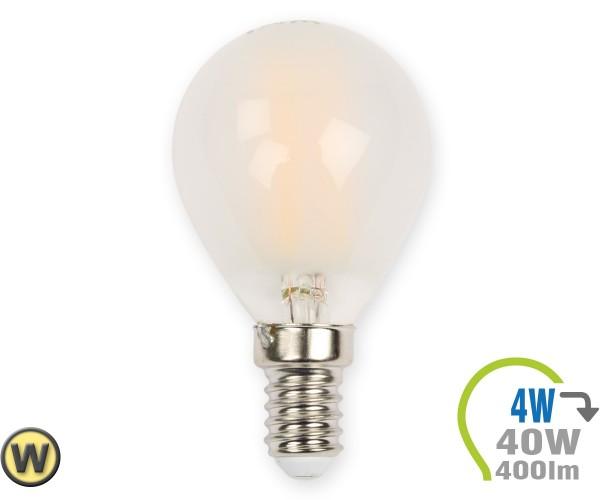 E14 LED Lampe 4W Filament matt P45 Warmweiß
