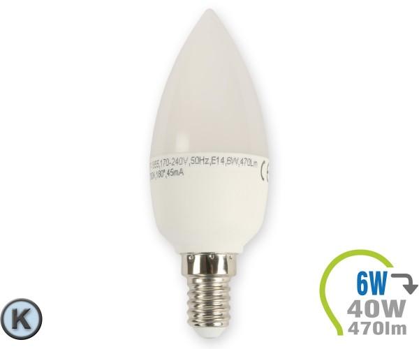 E14 LED Kerze 6W Kaltweiß