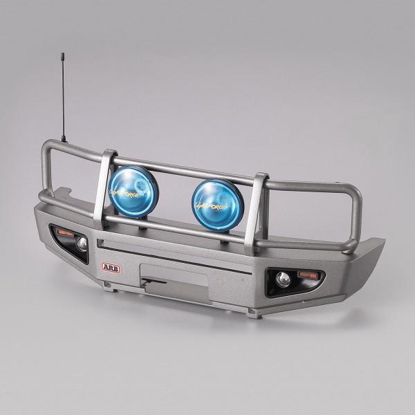 Rammschutz mit LED Scheinwerfer Alu silber für 1/10 Truck