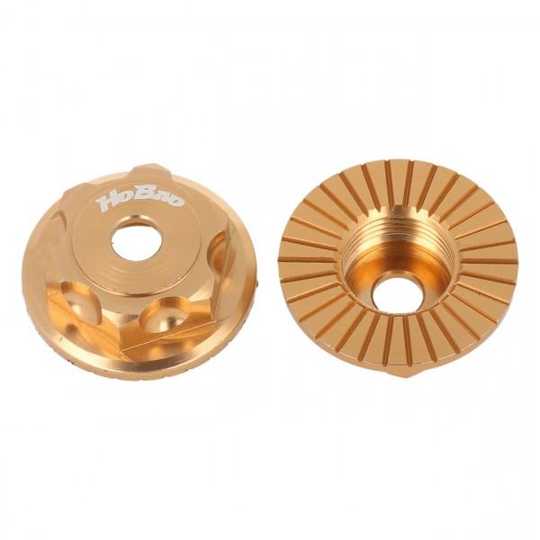 Radmuttern geschlossen gold (2 Stück)
