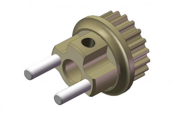 Aluminium Brems Riemenrad 20T