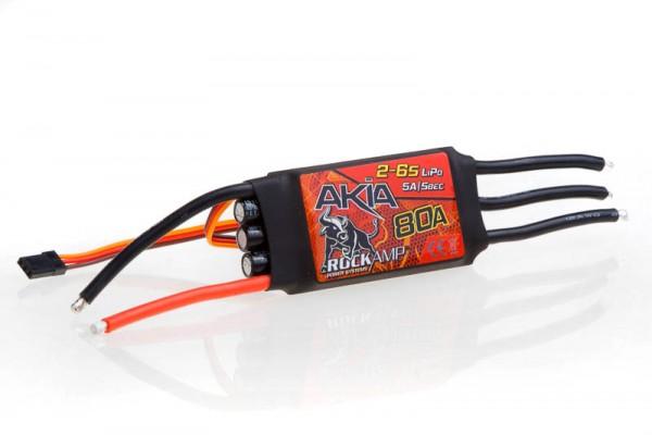 Akia 80A Brushless Regler 2-6S Lipo 5A SBEC