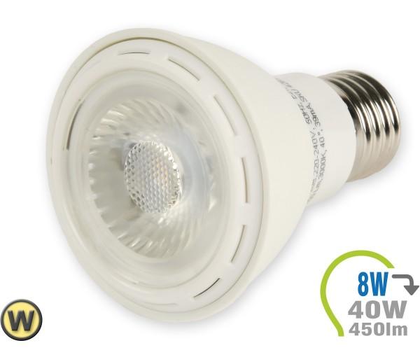 E27 LED Lampe 8W Spot PAR20 Warmweiß