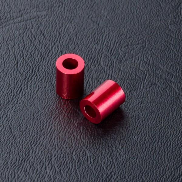 Distanzbuchsen 3x5.5x7mm rot (2 Stück)