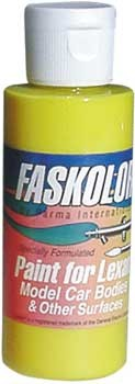 FasFluorescent Gelb Airbrush Farbe 60ml
