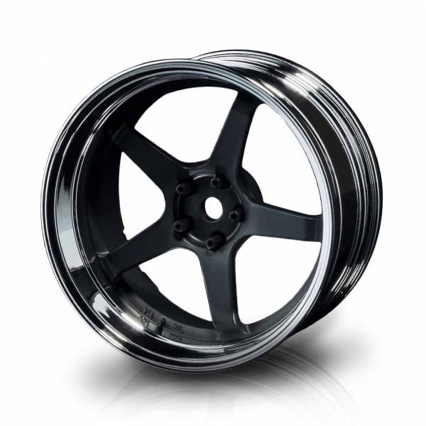 Drift Felge GT Silber-Schwarzmatt Offset verstellbar (4)