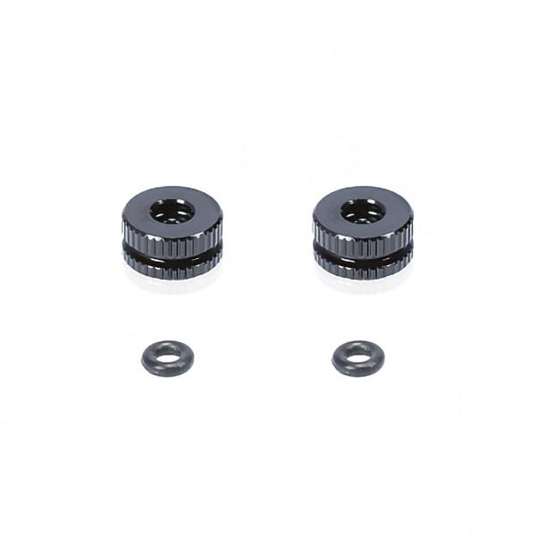 Battery retaining nut +oring(Black)