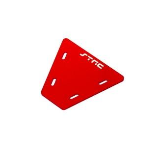Gefräste Alu Elektronik Platte für Axial AX10 (Rot)