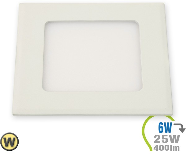 LED Paneel Einbauleuchte Premium Serie 6W Eckig Warmweiß