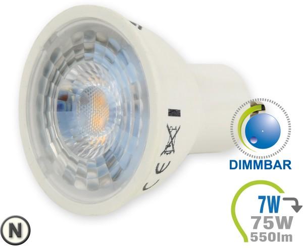GU10 LED Lampe 7W Spot mit Linse Neutralweiß dimmbar