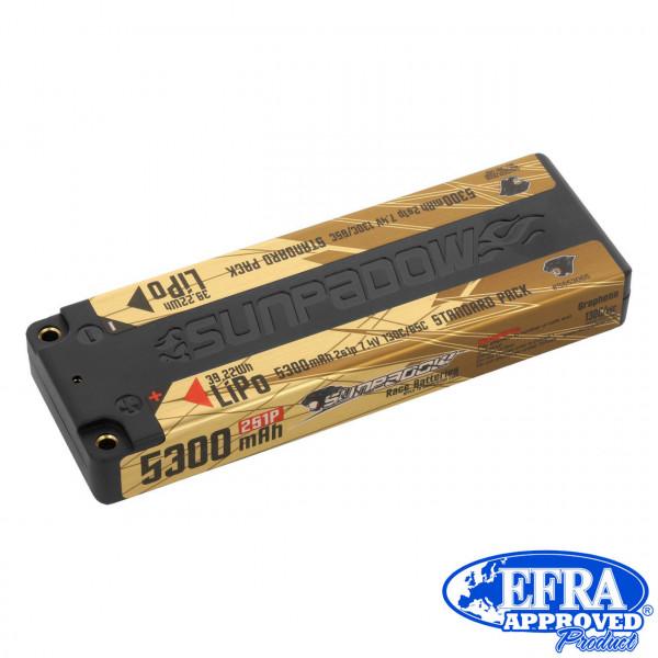 LiPo Akku 5300mAh 130C/65C 2s Competition 4mm Buchse