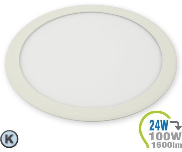 LED Paneel Einbauleuchte Premium Serie 24W Rund Kaltweiß