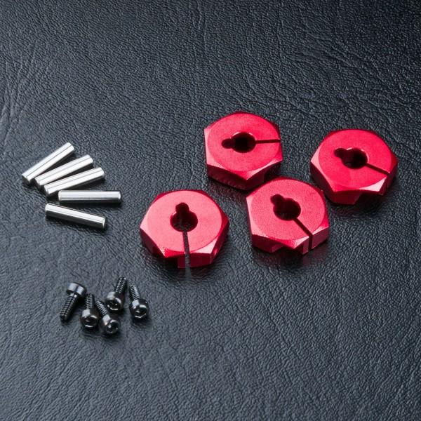 Radmitnehmer Alu 4mm rot (4 Stück)