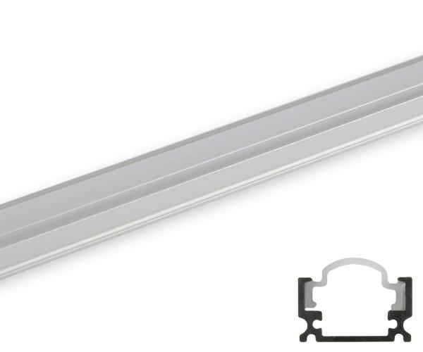 Aluminum Profil schmal runde Abdeckung matt