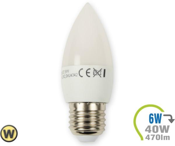 E27 LED Kerze 6W Warmweiß