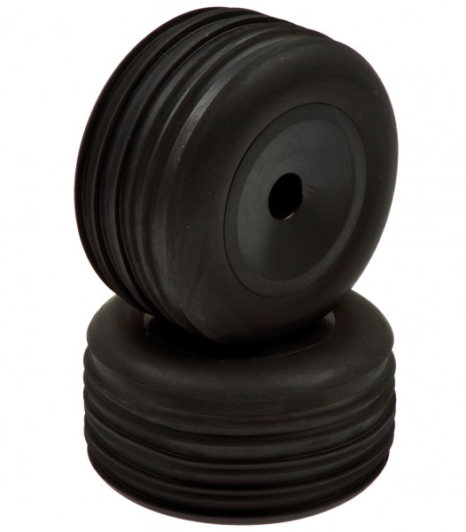 Truggy Vorderreifen verklebt schwarze Felgen (2 Stk)
