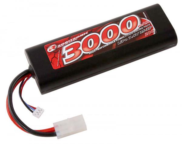 LiPo Akku 3000mAh 2S 20C Stick Pack Tamiya Stecker