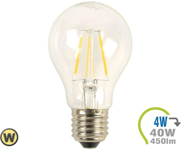 E27 LED Lampe 4W Filament A60 Warmweiß